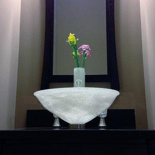 Powder Room Vase faucet w/ glass flowers & sink
