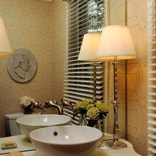 Traditional Powder Room by Michael Hampton Design