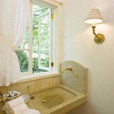 Traditional Powder Room by Clawson Architects, LLC