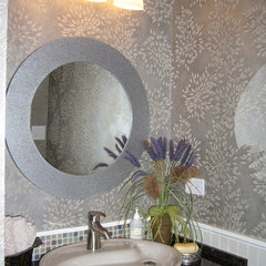 contemporary powder room by Golden Interiors Inc