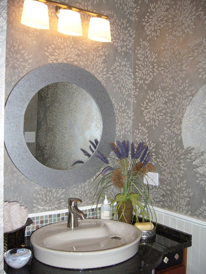 Contemporary Powder Room by Golden Interiors