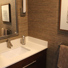 Midcentury Powder Room by Madison Modern Home