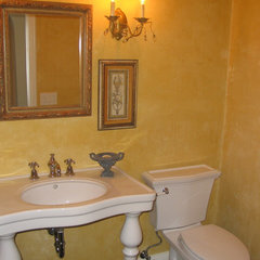 mediterranean powder room by Barbara Stock