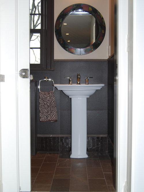 Eclectic powder room idea in Boston