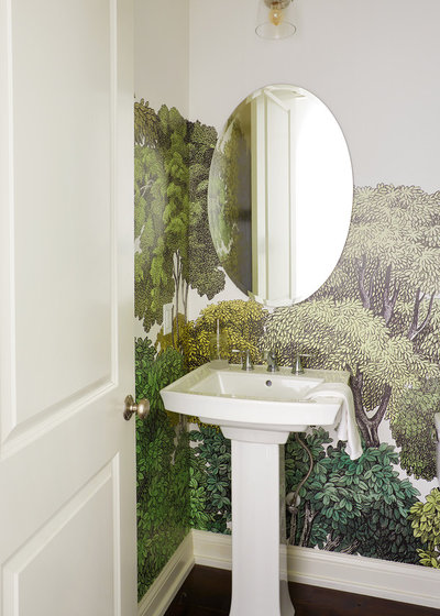 Midcentury Powder Room by Marcelle Guilbeau, Interior Designer