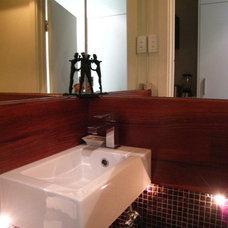 Contemporary Powder Room by imag_ne design + construction