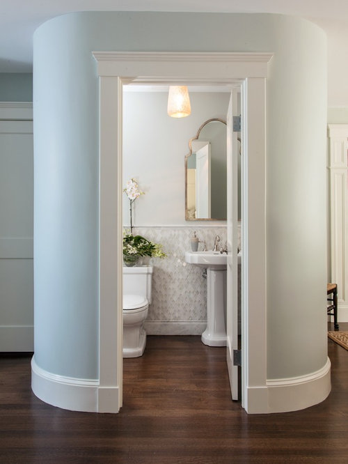 Powder room tile houzz for Houzz com bathroom tile