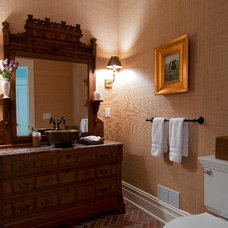 Traditional Powder Room by Anthony James Construction