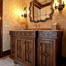 Traditional Powder Room by Cammi Werling Designs
