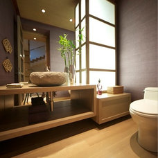 Asian Powder Room by DesRosiers Architects