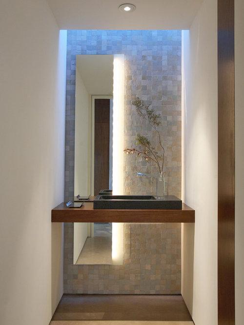 Contemporary powder room design ideas renovations for Modern powder room design