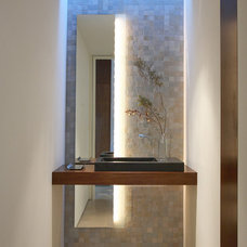 Contemporary Powder Room by Mark Nichols Modern Interiors