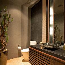 Contemporary Powder Room by Platinum Homes