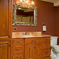 Rustic Powder Room by Superior Woodcraft, Inc.