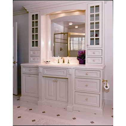 traditional powder room by Superior Woodcraft, Inc.