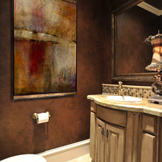 Mediterranean Powder Room by The Design Firm