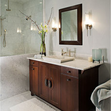Asian Powder Room by Pacific Design Inc