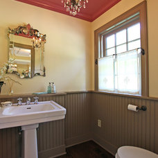 Farmhouse Powder Room by Corbo Associates Inc.
