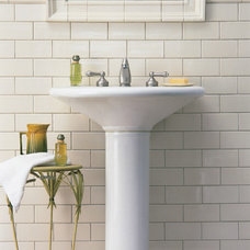 Traditional Powder Room by The Last Layer, Inc,