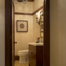 traditional powder room by Gast Architects