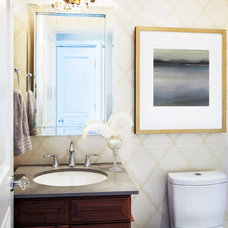 Traditional Powder Room by Sealy Design Inc.