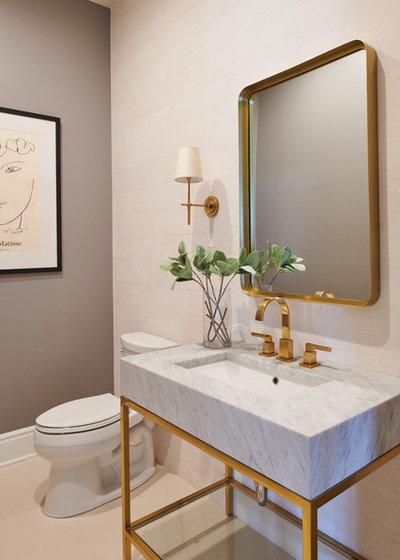 トランジショナル トイレ・洗面所 by Samantha Williams Interior Design