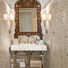 Traditional Powder Room by Jane Antonacci Interior Design