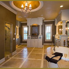 Mediterranean Powder Room by G3 Studios Decorative Painting
