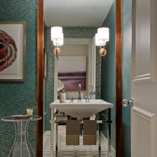 Transitional Powder Room by KS McRorie Interior Design