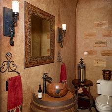 Traditional Powder Room by Niemann Interiors