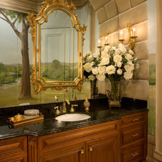 Traditional Powder Room by Susan Lachance Interior Design