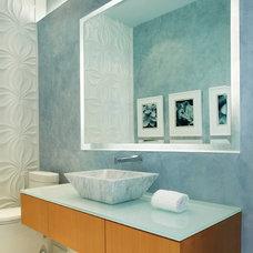 Contemporary Powder Room by Susan Lachance Interior Design