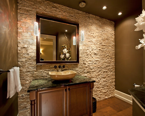 Stone Wall Bathroom Home Design Ideas, Pictures, Remodel and Decor