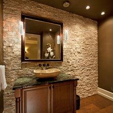 Traditional Powder Room by Bill Frame Custom Homes Ltd