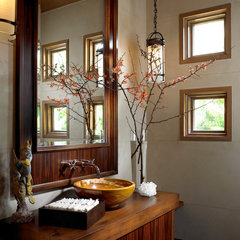 contemporary powder room by Marc-Michaels Interior Design