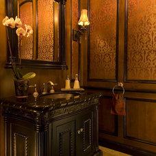 Traditional Powder Room by Tamm-Marlowe Design Studio