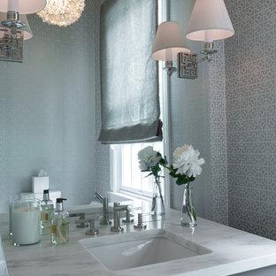 Пример оригинального дизайна: туалет в стиле современная классика