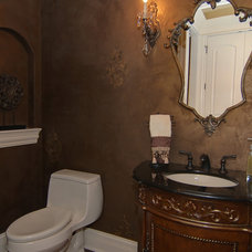 Traditional Powder Room by Meyer Design