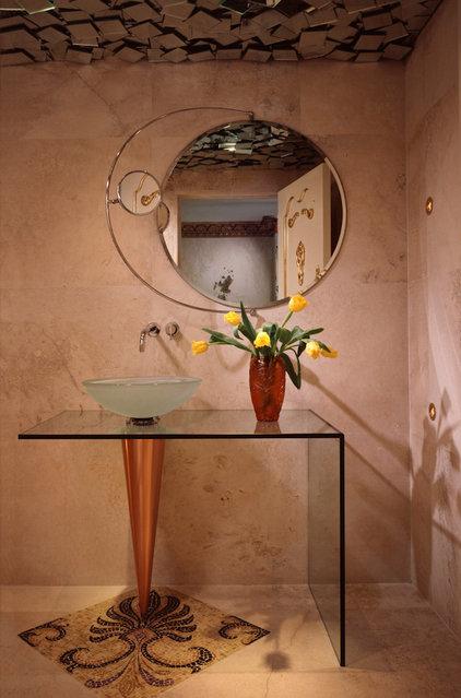 Contemporary Powder Room by Seth Benson, Photographer