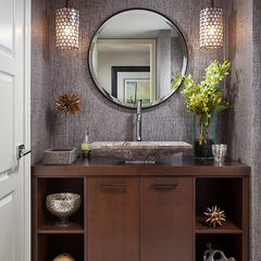 contemporary powder room by Insignia Design Group