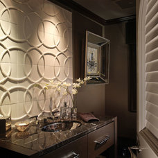 Contemporary Powder Room by Ruffino Cabinetry