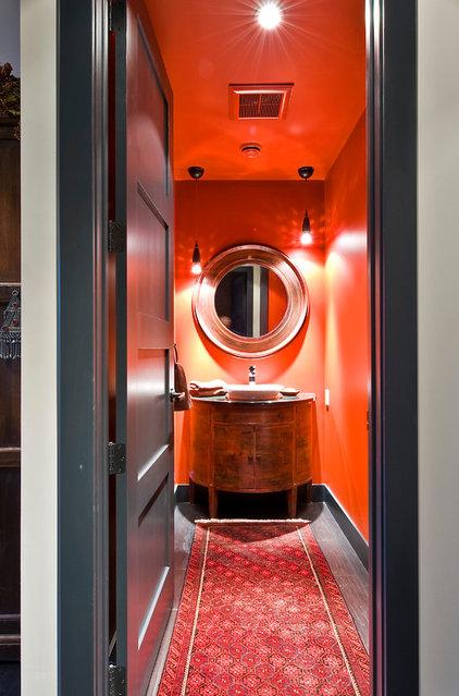 Contemporary Powder Room by Sticks and Stones Design Group inc.