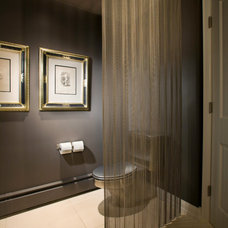 Contemporary Powder Room by Swanson Interiors