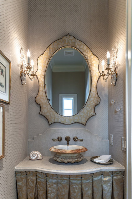 Traditional Powder Room by Carl Mayfield Architectural Photographer