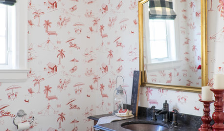 A Powder Room to Amuse Curious Guests
