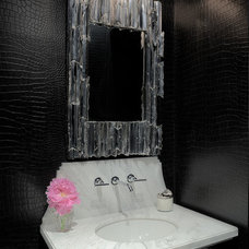Contemporary Powder Room by Carl Mayfield Architectural Photographer