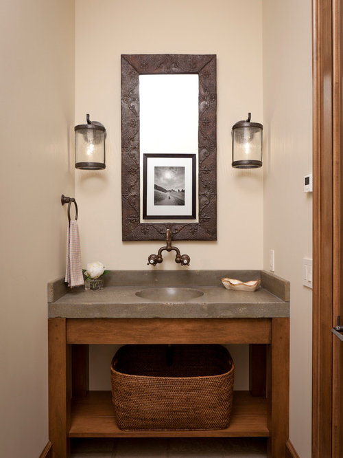 Room Vanity Countertops : Rustic powder room home design ideas pictures remodel