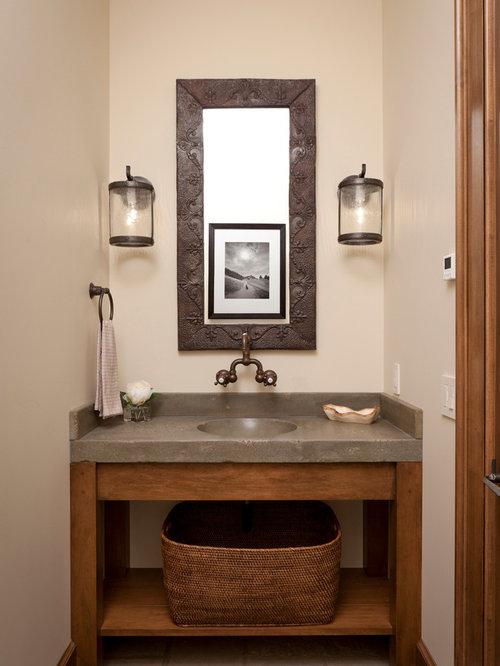 Concrete Bathroom Sink And Countertop