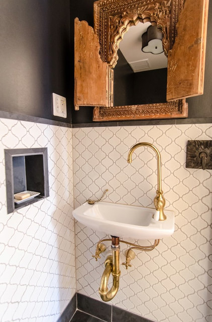 Eclectic Powder Room by indigo & ochre design