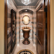 Eclectic Powder Room by Charles Neal Interiors